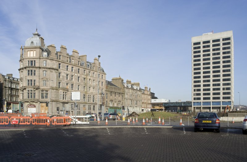 View looking to Tayside House and the Tay Hotel, taken from SW