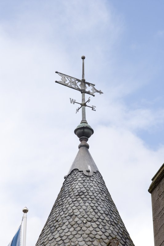 Detail of weather vane on turret.