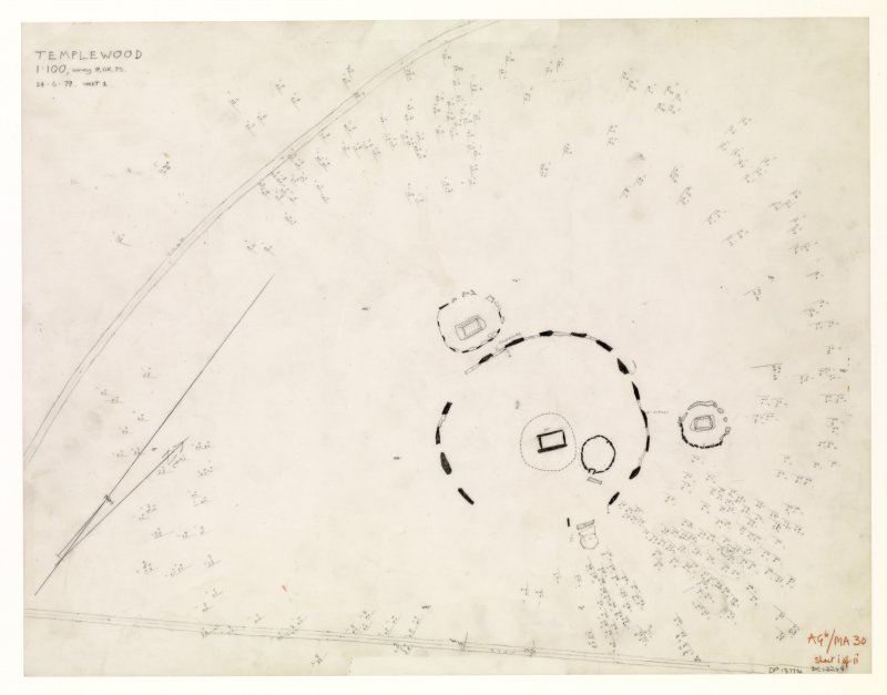 Survey drawing; Temple Wood stone circles.