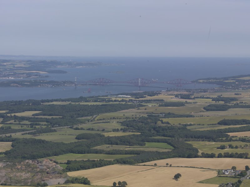 General oblique aerial view of the Firth of Forth centred on The Forth Road Bridge, taken from the WSW.