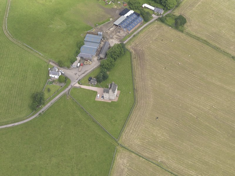 Oblique aerial view of Fortar Castle, taken from the S.