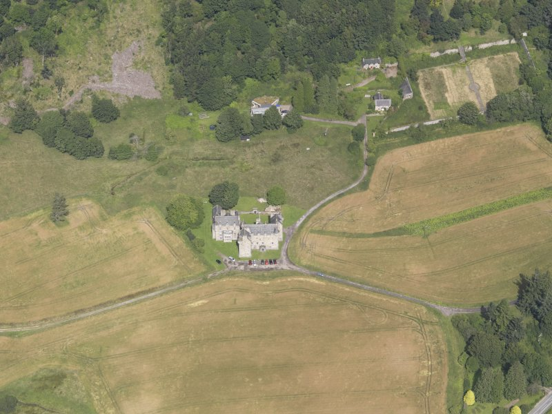 Oblique aerial view of Castle Menzies, taken from the S.