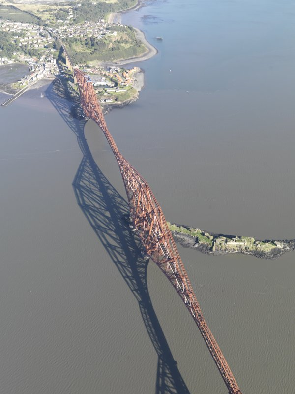 Oblique aerial view of Forth Bridge, taken from the S.