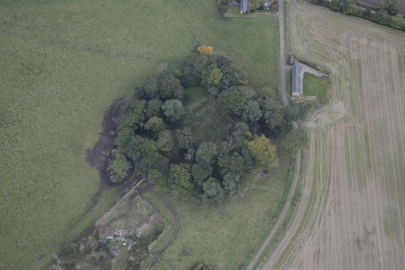Oblique aerial view of Kincardine Castle, taken from the SW.