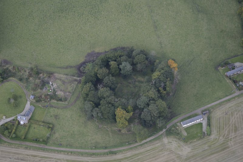 Oblique aerial view of Kincardine Castle, taken from the SSE.