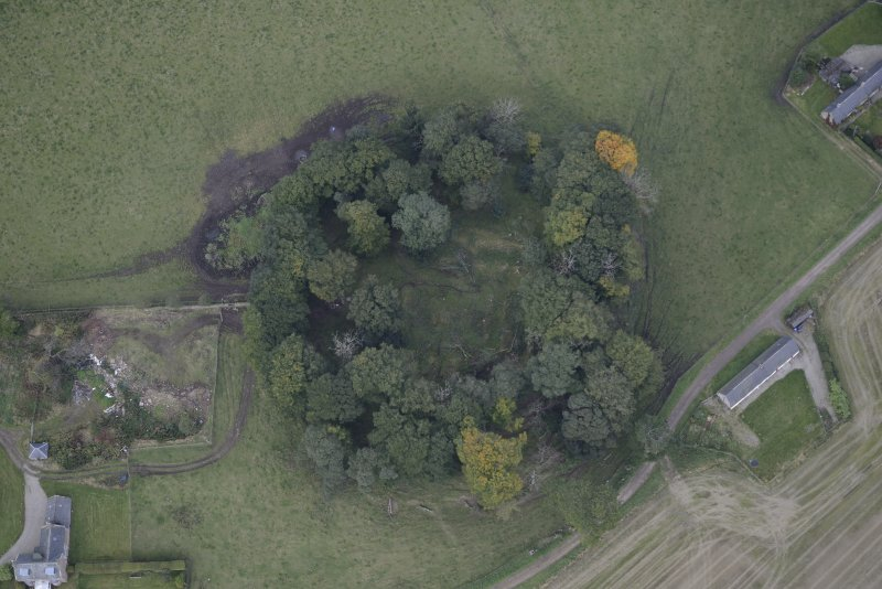 Oblique aerial view of Kincardine Castle, taken from the S.