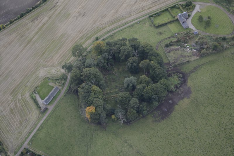 Oblique aerial view of Kincardine Castle, taken from the NE.
