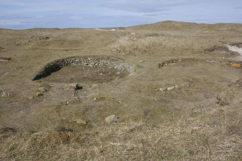 General view of the excavated roundhouses.