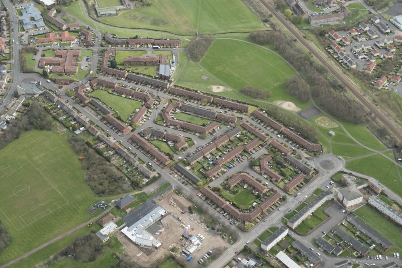 Oblique aerial view of Bingham Estate, tlooking to the SE.