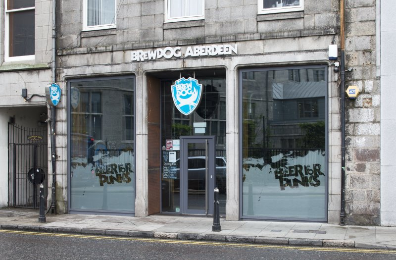 View of Brewdog Bar frontage, taken from north east
