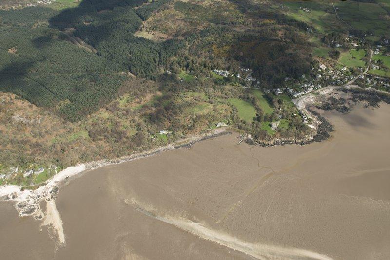 Oblique aerial view of Rockcliffe, looking ENE.