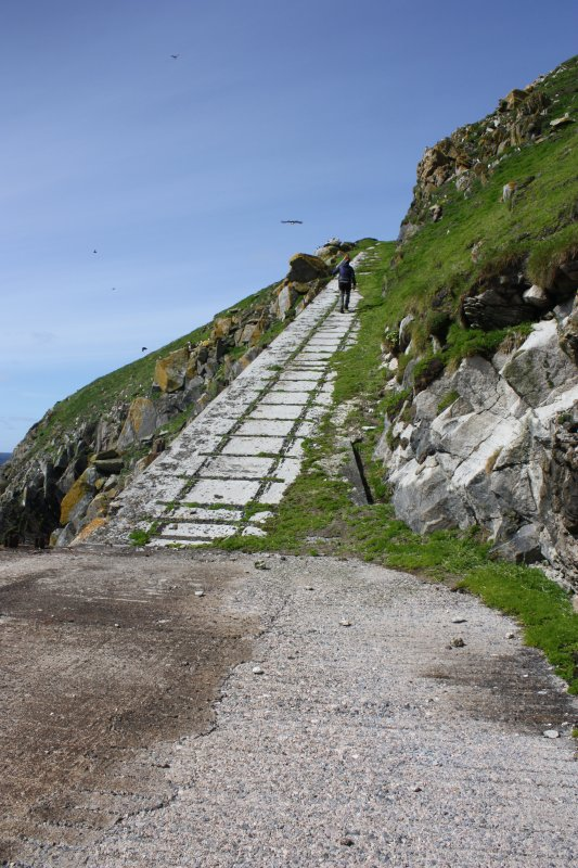 Eilean Mor. Track from the east landing stage.