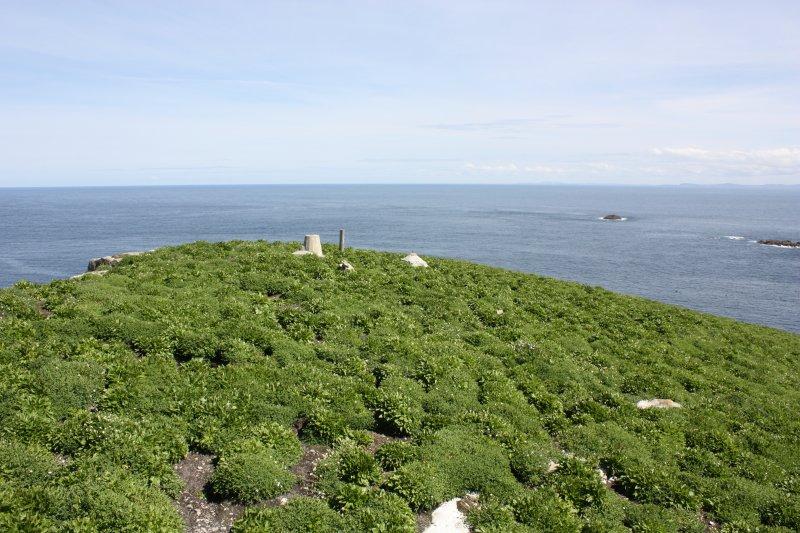 View from lighthouse enclosureto mast bases etc.