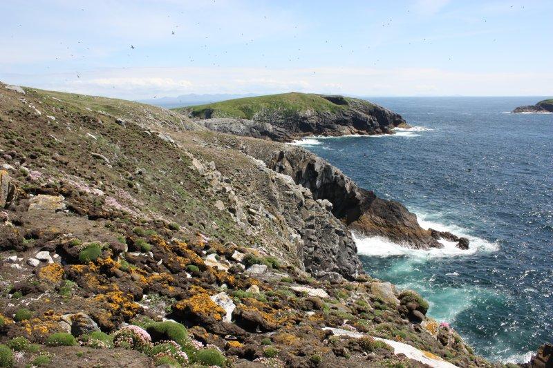 General view along the south coast of Eilean Mor to Eilean Tighe.