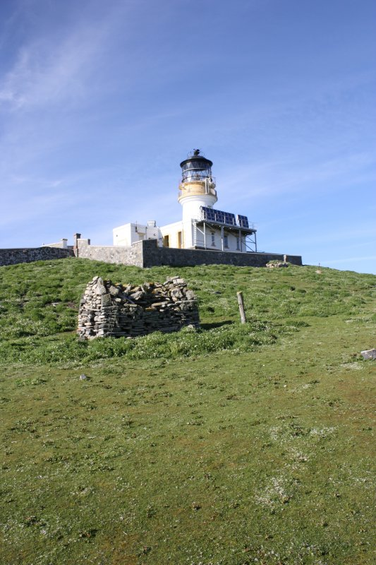 General view of the chapel and lighthouse on Eilean Mor, looking NE.