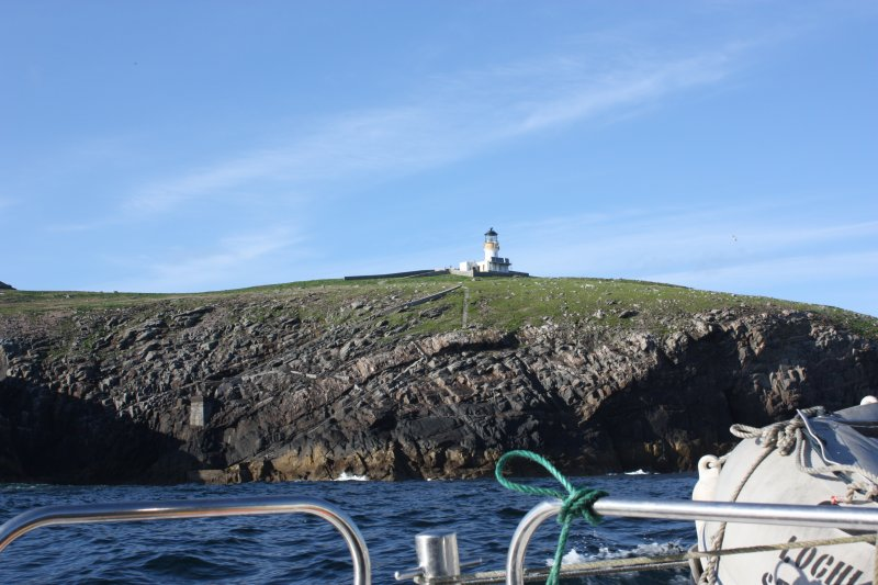 General view of the lighthouse on Eilean Mor, Flannan, and the SW landing are, looking NE.