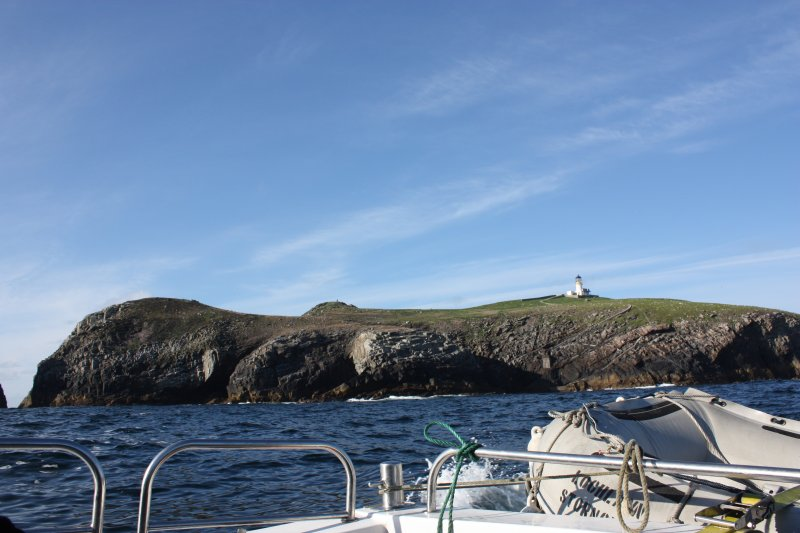 General view of the lighthouse on Eilean Mor, Flannan, looking NE.