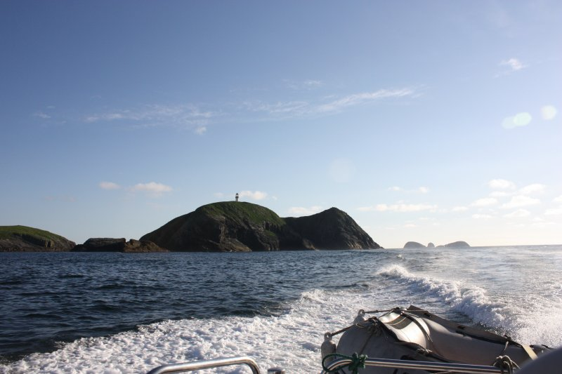 General view of the Flannan Isles, looking W.
