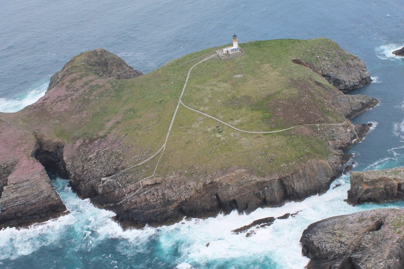 Oblique aerial photograph.