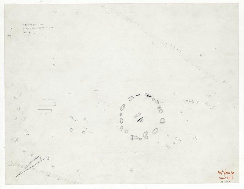 Plane-table survey; Temple Wood. Sheet 2.