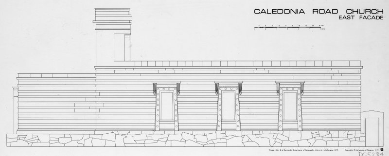 1 Caledonia Road, Caledonia Road Church Elevation of East facade