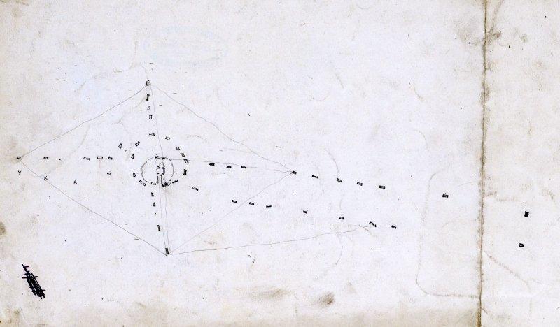 Pencil drawing: plan of Callanish.