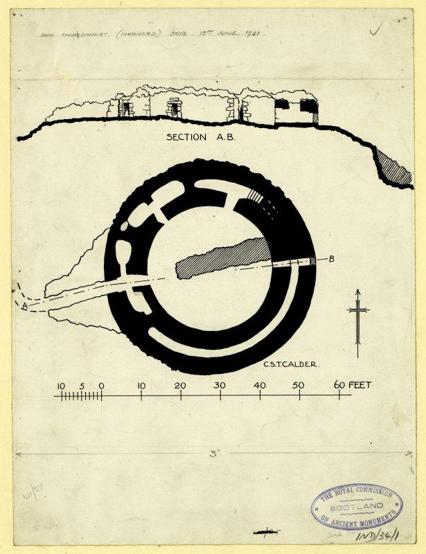 Publication drawing; Dun Fiadhairt.