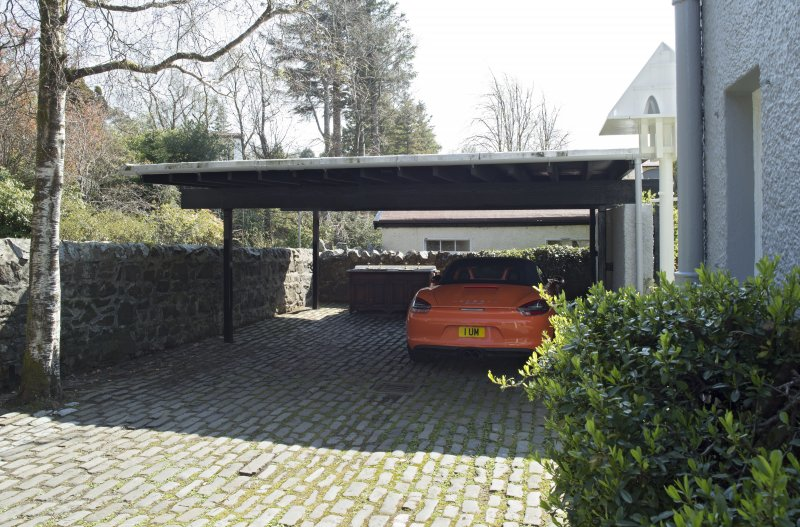 Carport, view from north