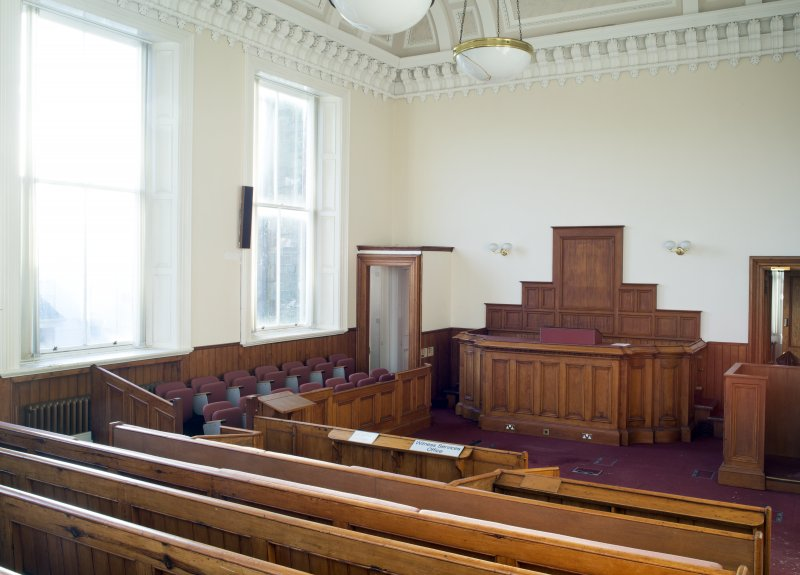 Interior. First floor. General view of courtroom.