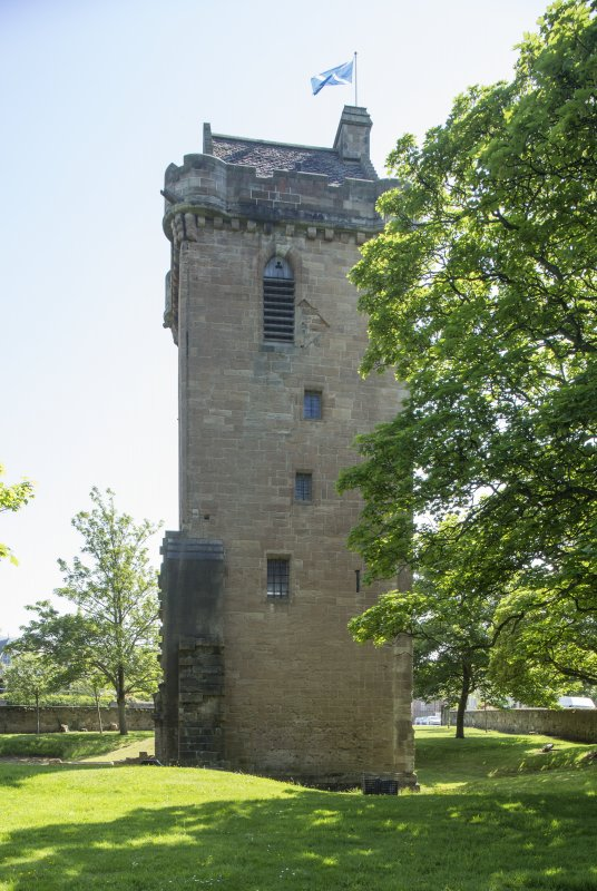General view of tower from north.