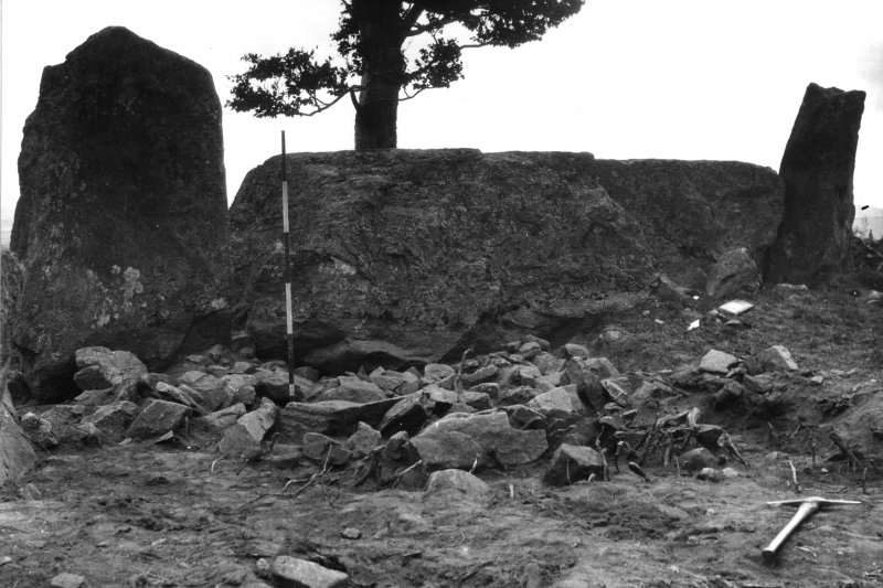 Photograph of recumbent stone circle.