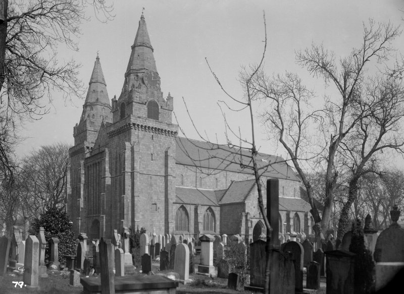 Aberdeen, Chanonry, St Machar's Cathedral. General view of Cathedral and churchyard.