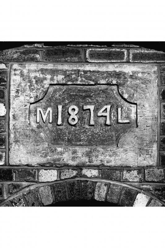 Detail of date panel.