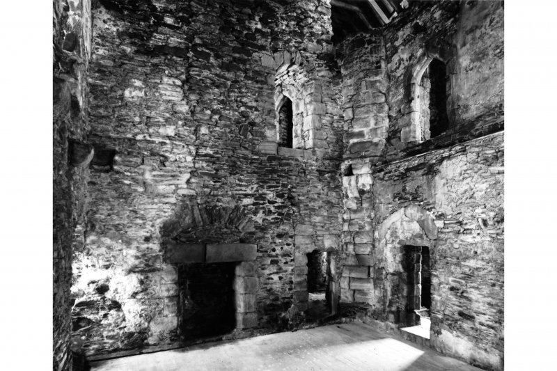 Interior-general view of second floor of Keep from South West