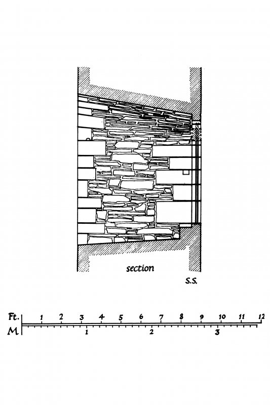 Plan, Section and Interior and Exterior Elevations of North window of Hall-house at Skipness Castle Fig. 168