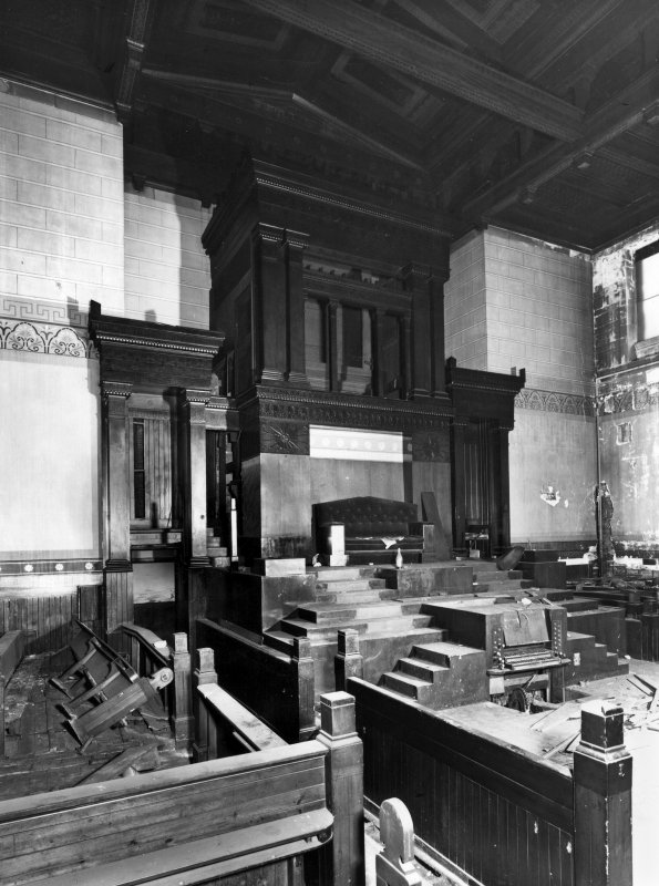 Glasgow, 1 Caledonia Road, Caledonia Road Church, interior View of organ screen