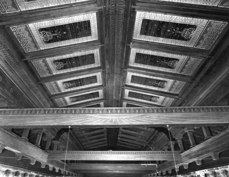 1 Caledonia Road, Caledonia Road Church, interior View of painted ceiling