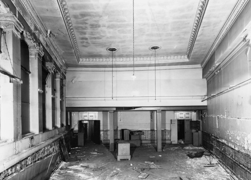 1 Caledonia Road, Caledonia Road Church, interior General view of church hall showing damage