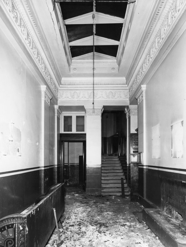 1 Caledonia Road, Caledonia Road Church, interior View of vestibule showing damage