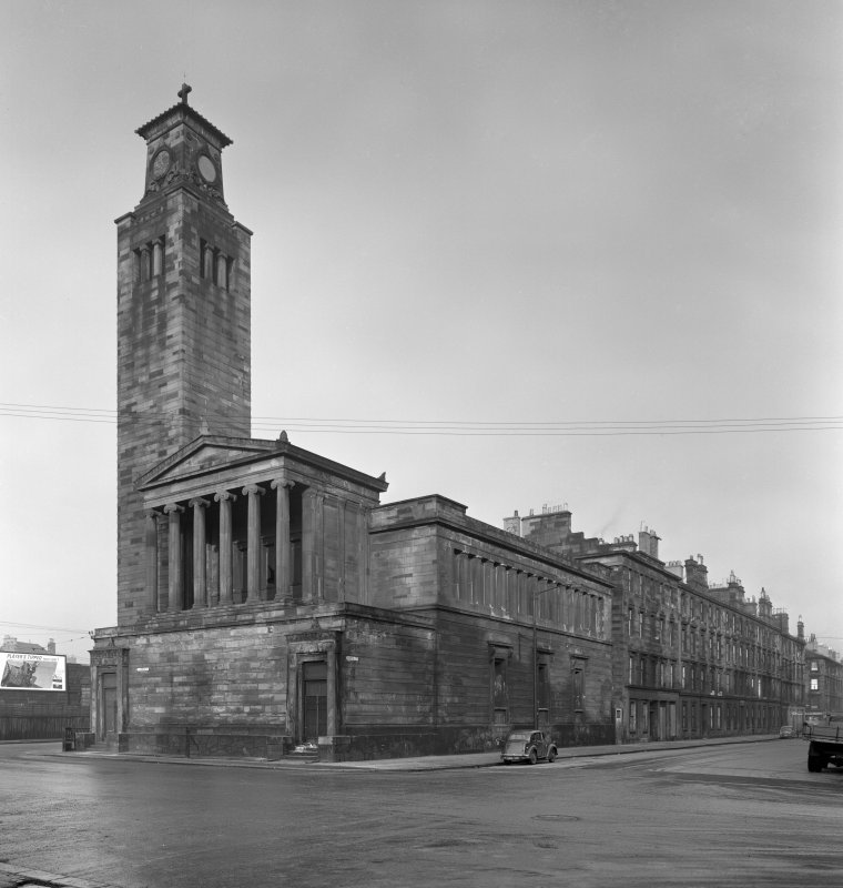 1 Caledonia Road, Caledonia Road Church General view Verso: newscutting from The Scotsman 28.2.1967