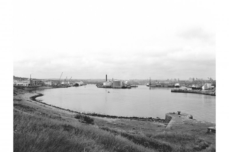 Aberdeen Harbour General view from ESE