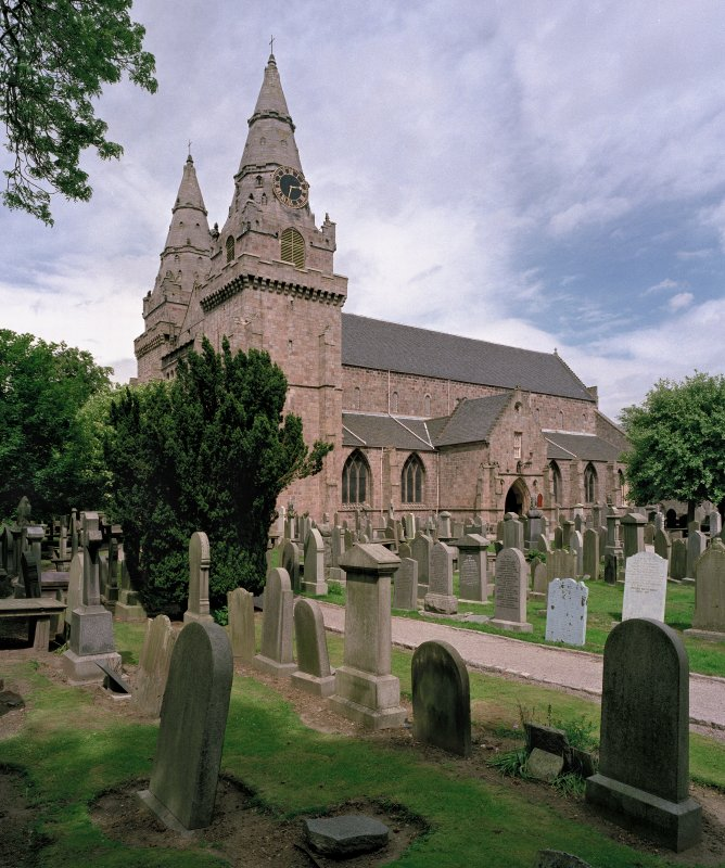 St Machar's Cathedral. View from SW.