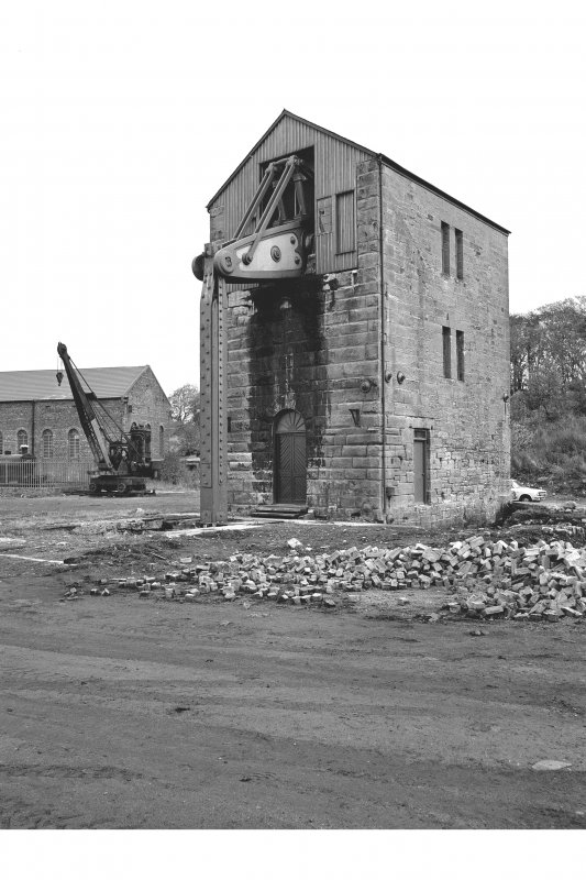 Prestongrange Colliery View from W showing steam engine, steam navvy, power station, SW front and NNW front of pumping engine