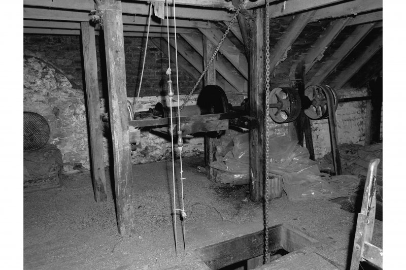 Millmannoch, Mill, interior View of sack hoist