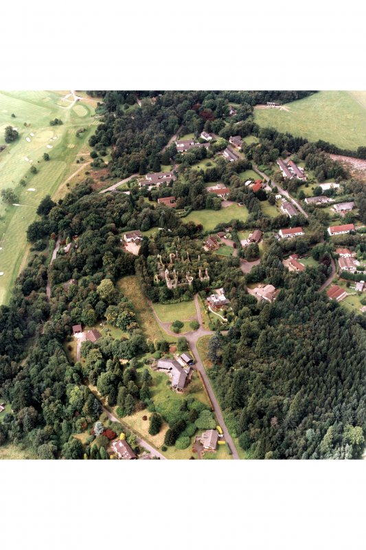 Scan of D/46095/cn aerial view of Buchanan Castle
