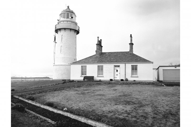 Toward Point, Toward Point Lighthouse View from ENE showing ENE front of Principal's House with Lighthouse in background