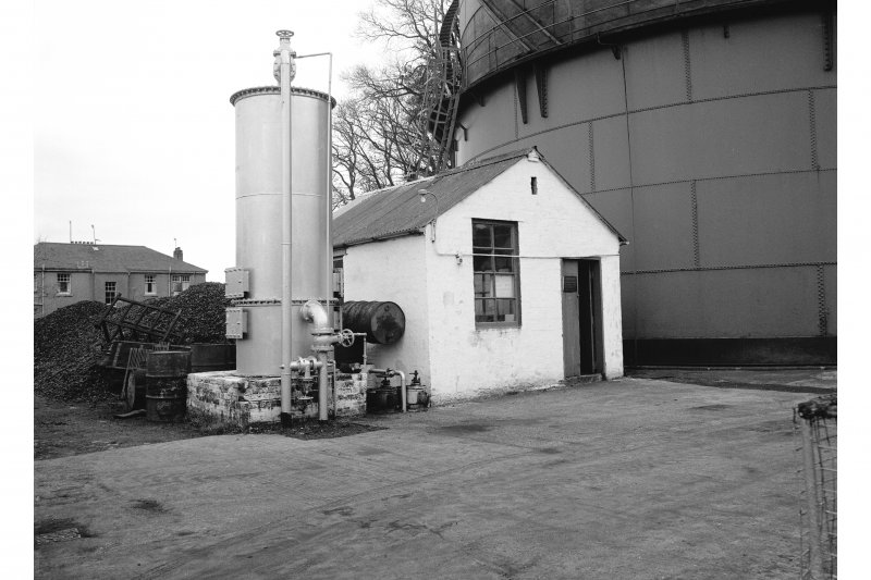 Great Cumbrae Island, Millport Gasworks View of new scrubber (unused) and meter house