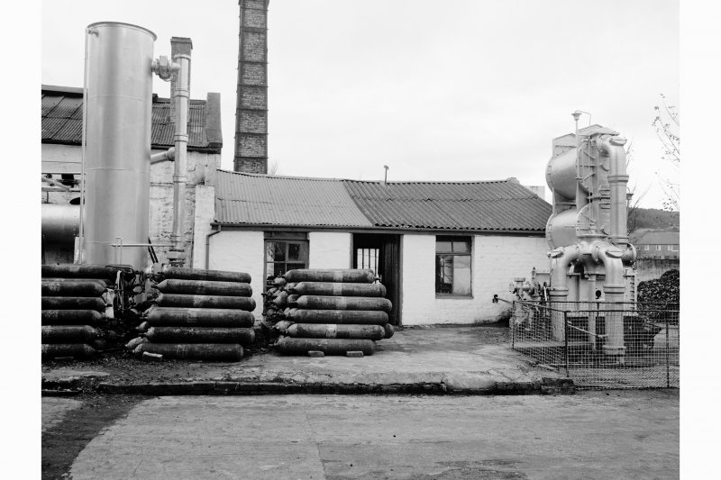 Great Cumbrae Island, Millport Gasworks View of condenser and scrubbers, meter house in background
