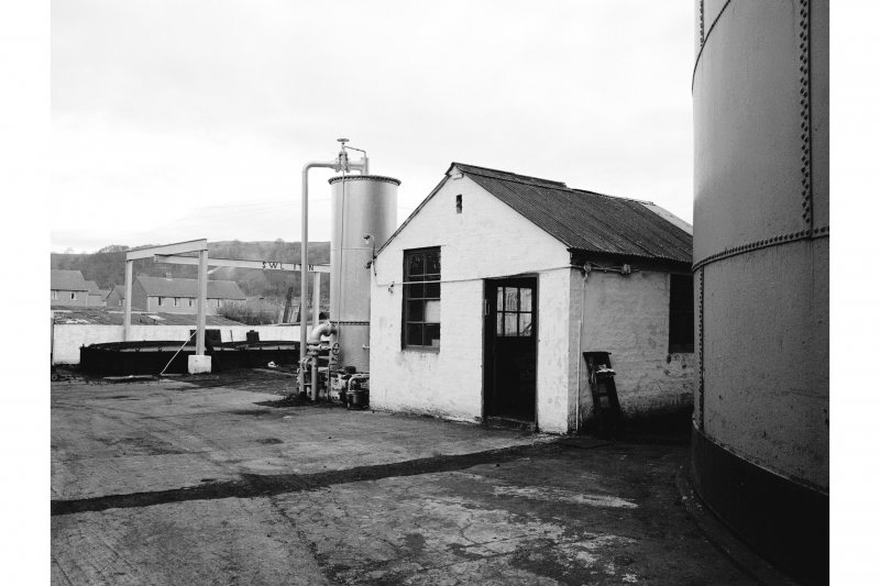 Great Cumbrae Island, Millport Gasworks View of meter house; condenser and scrubber in background