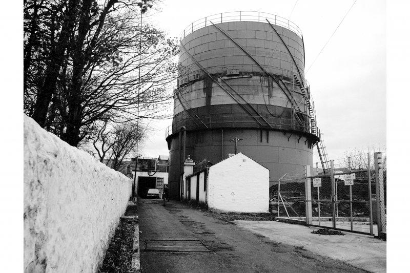 Great Cumbrae Island, Millport Gasworks View of gasholder
